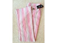 Women's Clothing Pink Stripe Trousers Size 12 BNWT
