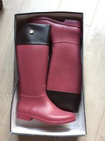 Stylish Scholl Wellington Boots riding boots wellies size 6.5