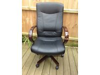 Black high back office chair