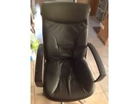 Faux leather office chair for sale
