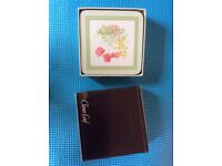 Clover leaf place mats and matching coasters