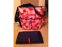 skip hop pink camo changing bag as seen collect may be able to meet in Aberdeen if heading that way