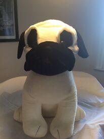 Large pug soft toy 75cmx56cm brand new