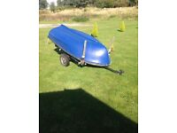 Rowing boat for sale with trailer,life jackets and anchor