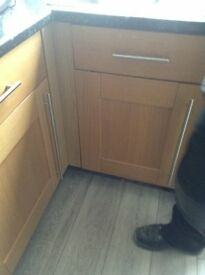 Shaker kitchen solid oak wooden doors for sale