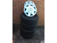 Mercedes B/A Class winter tyres and steel wheels