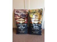2 x 12kg bags of Carnilove dry dog food, RRP is £48 each, am asking £40 for the 2 bags. Unopened.