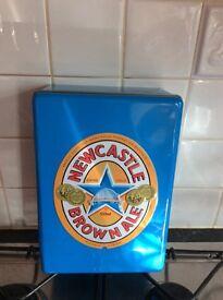 Newcastle brown ale tin