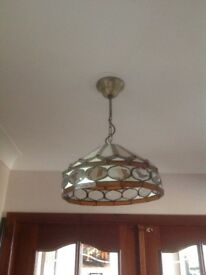 Pair of Tiffany pendant lampshades
