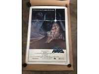 Star Wars Original Movie Poster 1977 Linen Backed