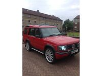 "Land Rover discovery 2 td5 rare red 22"" alloys 11month mot 7 seater"
