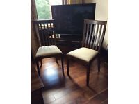 Pair of dark Garrat Laura Ashley ex display chairs