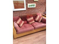 Conservatory furniture,large settee and chair.