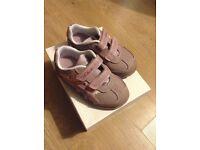 Clarks flashing lights girls 5G pink trainers