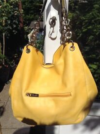 Bright Clarks summer hand bag with handles, or shoulder strap, 3 compartments