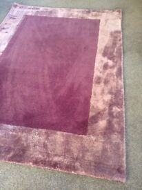 M&S rug plumb colour almost new
