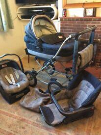 Mamas and Papas travel system / pram / carrycot / car seat