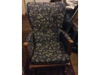 Beautifully upholstered rocking chair