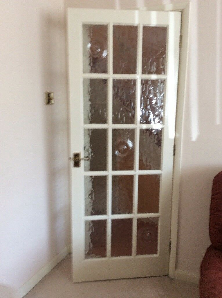 4 Internal Wooden Doors With 15 Glass Panels