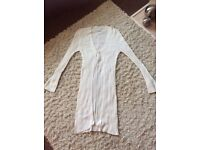Next Winter White cardigan Size 10