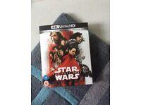STAR WARS - THE LAST JEDI 4K ULTRA HD BLU RAY WITH BONUS DISC