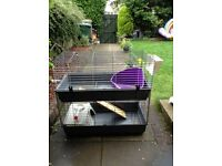 Rabbits/guinea pigs hutch - duplex apartment!