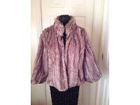 Per Una (M & S) Faux Fur Jacket - size 10