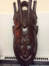 Large African wall mask