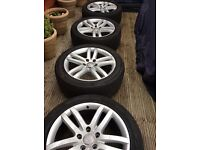 Audi alloy wheels and tyres.. Q7 20 inch
