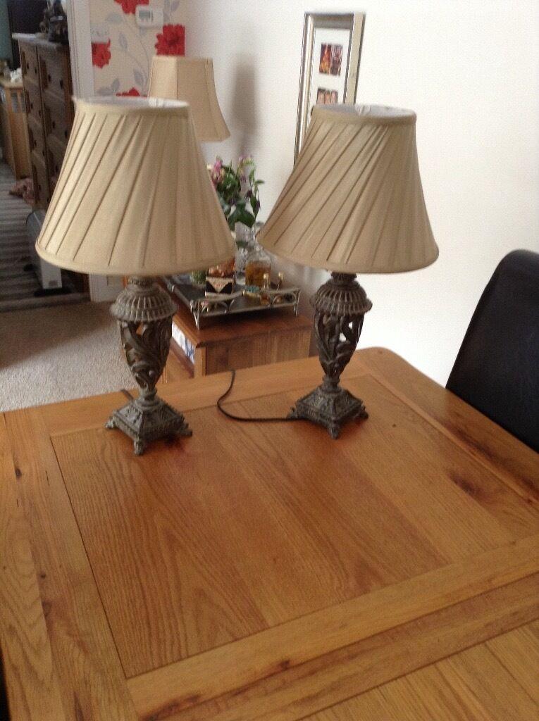 Pair of ornate table lamps in brixham devon gumtree pair of ornate table lamps aloadofball Choice Image