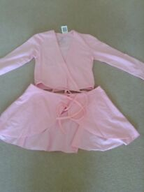 Girls pink ballet set