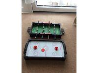 John Lewis Desktop Mini Football Table and air hockey table