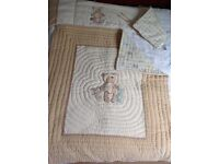 Mothercare cot bumper, matching quilt and pillow case