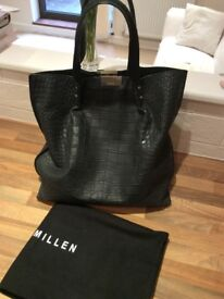 Karen Millen Black Leather Handbag