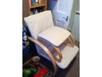 Nursery chair with foot stool