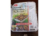2 x Disposable instant light BBQ