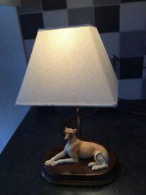 Greyhound figure table lamp