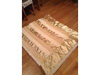 Beautiful golden bed/chair throw