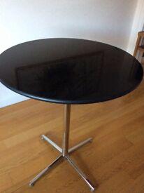Black Granite Tall Bar Table - As new