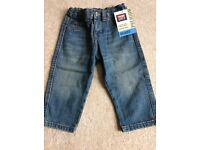 BOYS DESIGNER WRANGLER JEANS WITH TAGS 18 MONTHS
