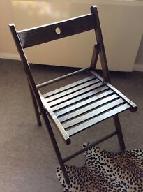 Wooden chair slatted art deco