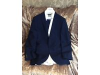 Bright Blue Prom/Wedding Suit Slim Fit with Slim Fit Shirt Excellent Condition Worn Once