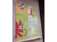 Children's Vertbaudet safari animal rug 133cm X 99cm