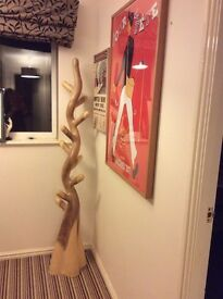 Solid wooden coat stand
