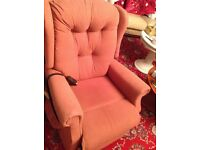 Electric Riser & Recliner, Peach Colour.