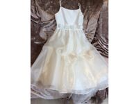 Tiger Lily Designer Ivory Bridesmaid Dress Age 8 Years