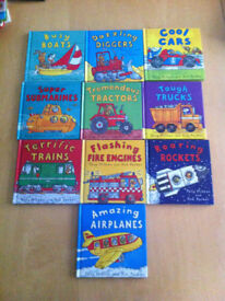 Amazing Machines 10 book set - hard cover