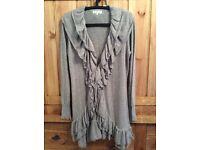John Rocha gorgeous grey dressy cardigan. Size 14. Beautiful quality & very good condition.