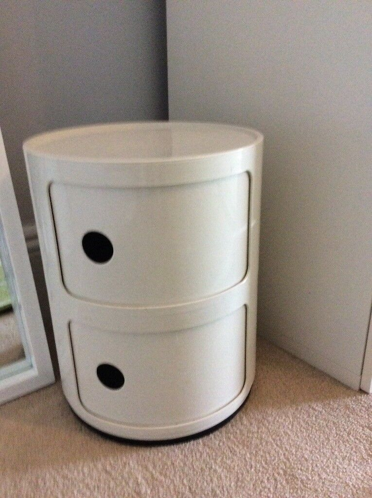 Round Bedside Table Storage Cupboard In Brighton East