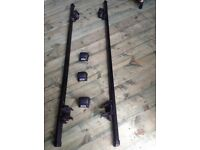 Roof bars for car with rails